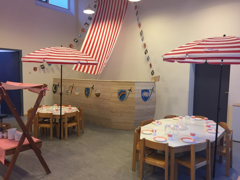Piratenschiff im Kinderrestaurant